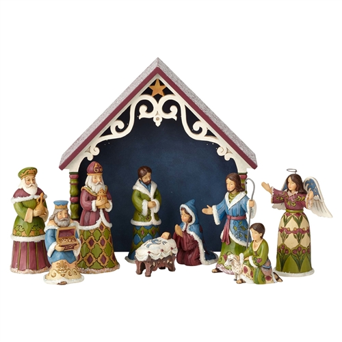 Heartwood Creek Victorian 10-Piece Mini Nativity Figurine Set