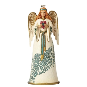 Heartwood Creek Golden Garland Angel with Heart by Jim Shore 4058761