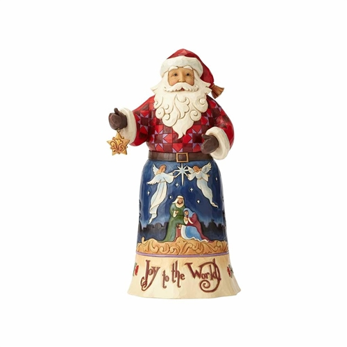 Heartwood Creek 'Joy to the World' Santa Figurine by Jim Shore 4058782