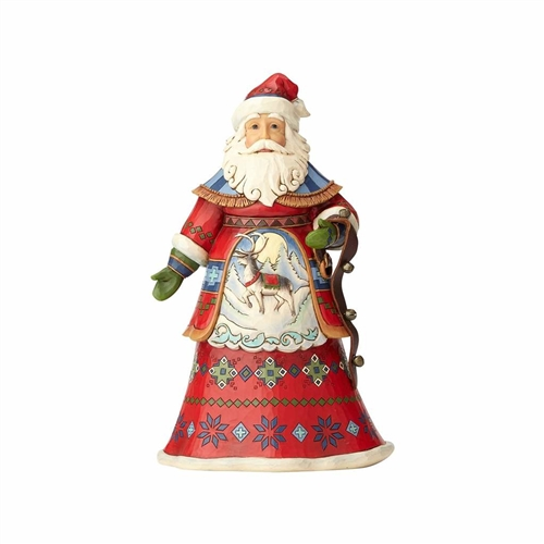 Heartwood Creek 10th Annual Lapland Santa with Bells Figurine