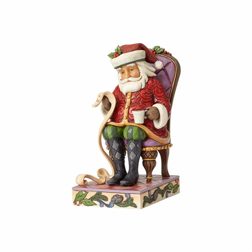 Heartwood Creek Santa Reading List in Chair Figurine 4058786