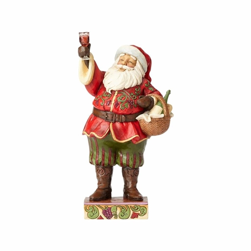 Heartwood Creek Santa with Wine Glass Figurine 4058788