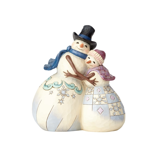 Heartwood Creek Snowman Couple Hugging