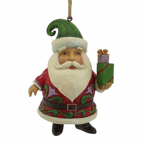 Heartwood Creek Santa Holding Gifts Ornament