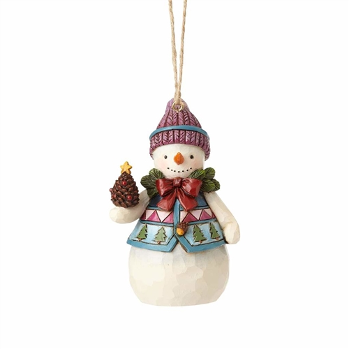 Heartwood Creek Mini Snowman with Pinecone Ornament