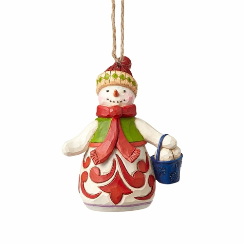Heartwood Creek Mini Snowman with Bucket Ornament | 4058832