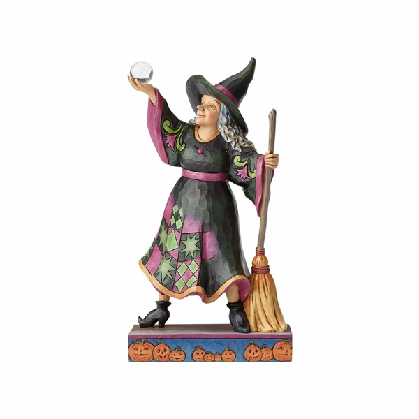 Heartwood Creek Witch with Crystal Ball Figurine by Jim Shore | 4058847