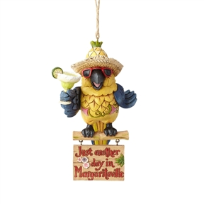 Margaritaville Parrot Ornament by Jim Shore 4059124