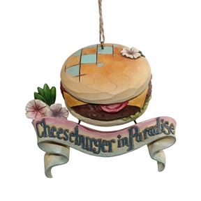 Margaritaville Cheeseburger Paradise Ornament by Jim Shore 4059125