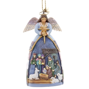 Angel with Nativity Scene Heartwood Creek Ornament by Jim Shore, 4059765