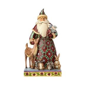 Heartwood Creek Santa with Woodland Animals Figurine by Jim Shore | 4060146