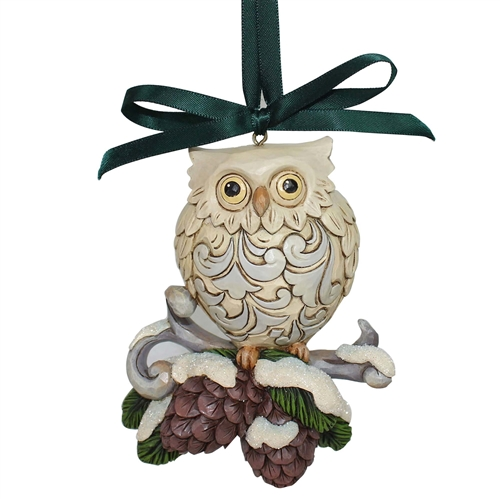 Heartwood Creek Legend of Pine cone Owl Ornament 6000676