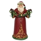 Heartwood Creek Red/Green Santa with Garland Figurine by Jim Shore, 6001053
