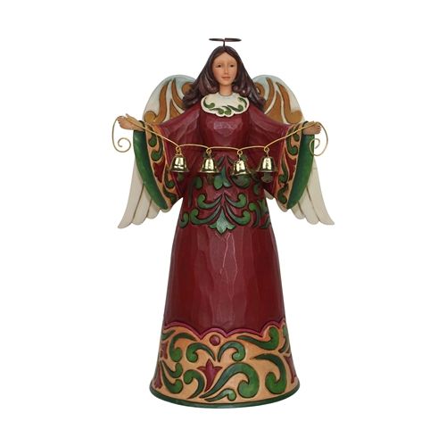 Heartwood Creek Red/Green Angel Figurine by Jim Shore 6001054