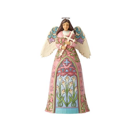 Easter Angel with Cross and Lilies Figurine by Jim Shore