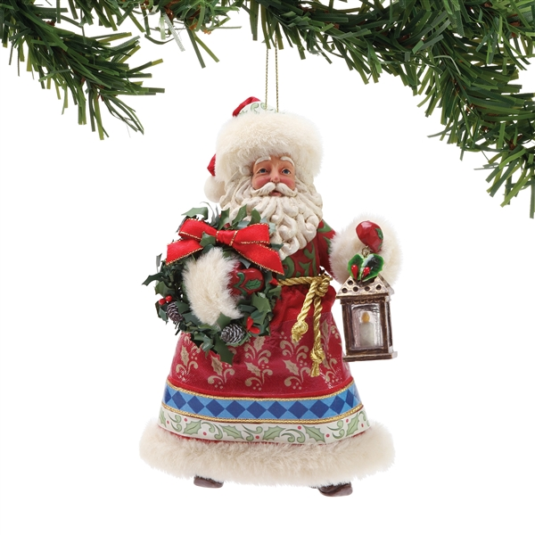 Possible Dreams by Jim Shore Licensed Santa Hanging Ornament 6001341