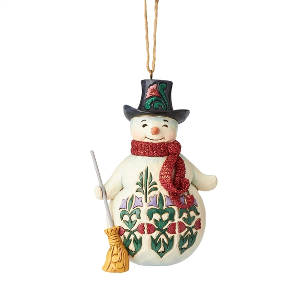 Heartwood Creek Snowman Wonderland with Broom H/O by Jim Shore 6001425
