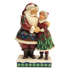 Heartwood Creek Santa with Mrs. Claus Figurine by Jim Shore | 6001465
