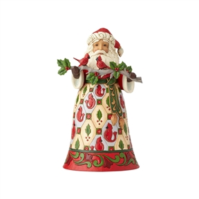 Heartwood Creek Santa with Cardinal Figurine by Jim Shore 6001468