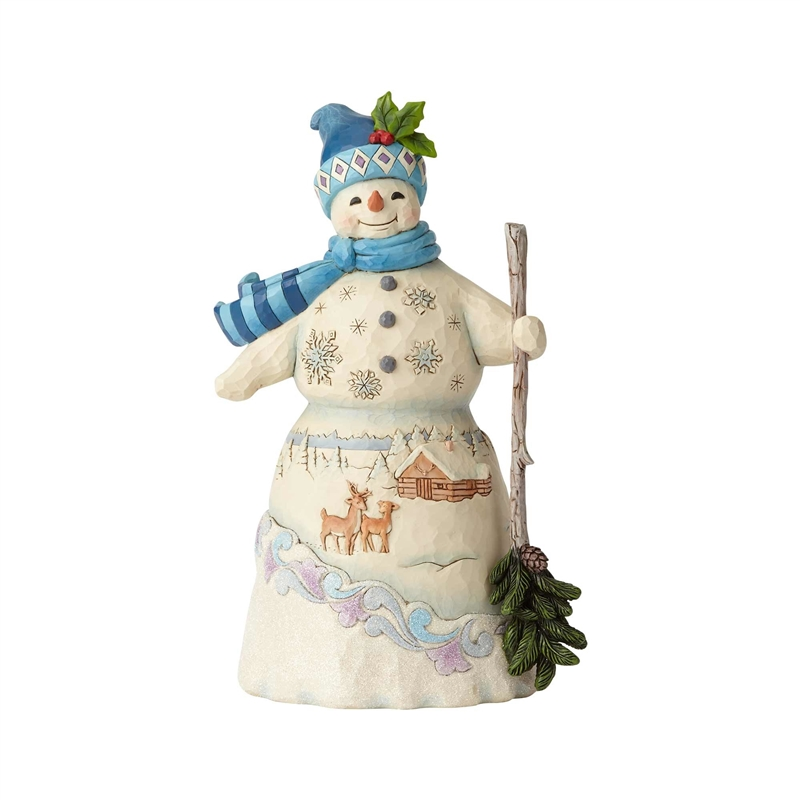 Jim Shore Heartwood Creek ~ Snowman Singing Musical Figurine ~ 4032485