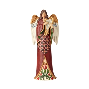 Heartwood Creek Tall Narrow Angel with Harp Figurine by Jim Shore, 6001486