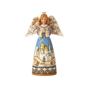 Heartwood Creek Angel with Nativity Figurine by Jim Shore, 6001487
