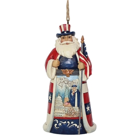 Heartwood Creek American Santa Hanging Ornament by Jim Shore | 6001508