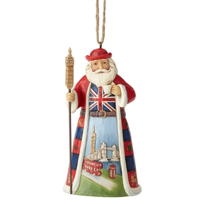 Heartwood Creek British Santa Hanging Ornament by Jim Shore | 6001509