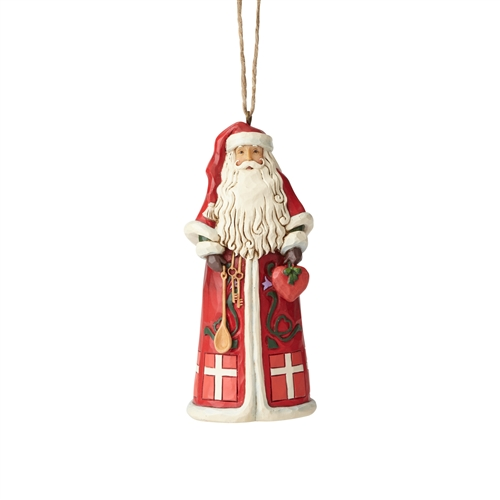 Heartwood Creek Danish Santa Christmas Ornament, 6001510