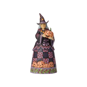 Heartwood Creek Friendly Pumpkin Witch Figurine by Jim Shore, 6001547