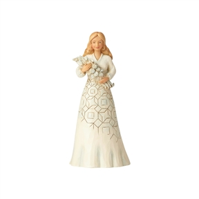 Heartwood Creek Girl with Flower Bouquet Figurine by Jim Shore, 6001559