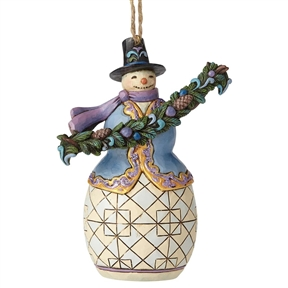 Heartwood Creek Snowman with Garland Ornament by Jim Shore, 6002735