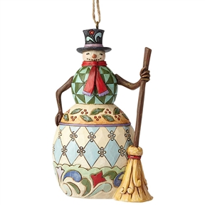 Heartwood Creek Snowman with Broom Ornament by Jim Shore, 6002736