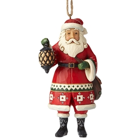 Heartwood Creek Santa Holding Lantern Ornament by Jim Shore, 6002737