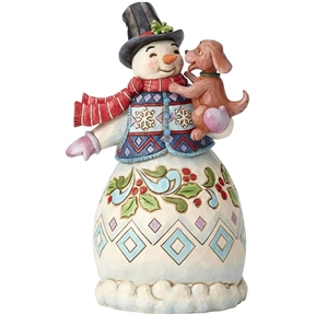 Heartwood Creek Snowman with Dog by Jim Shore | 6002802