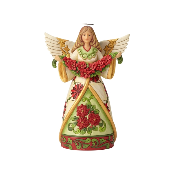 Heartwood Creek Angel with Poinsettia Figurine by Jim Shore | 6002902