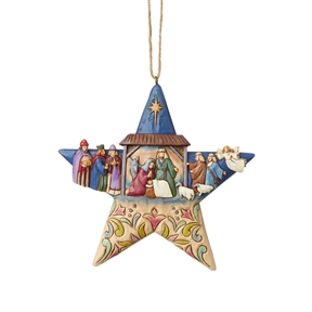 Heartwood Creek Nativity Star Hanging Ornament by Jim Shore | 6003340