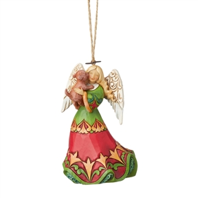 Heartwood Creek Angel Holding a Dog Hanging Ornament by Jim Shore  | 6003360