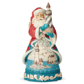 Heartwood Creek Coastal Santa Lighthouse Figurine 6004023