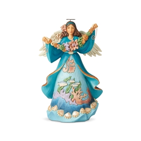 Heartwood Creek Coastal Scene Angel Figurine 6004024