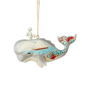 Heartwood Creek Coastal Whale Hanging Ornament by Jim Shore, 6004035