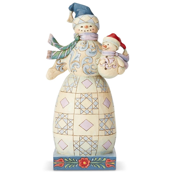 Heartwood Creek Snowman with Snowbaby Figurine by Jim Shore, 6004140