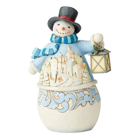 Heartwood Creek Snowman with Village Scene Figurine by Jim Shore, 6004141