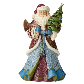Heartwood Creek Victorian Santa Holding Tree and Horn Figurine by Jim Shore, 6004179