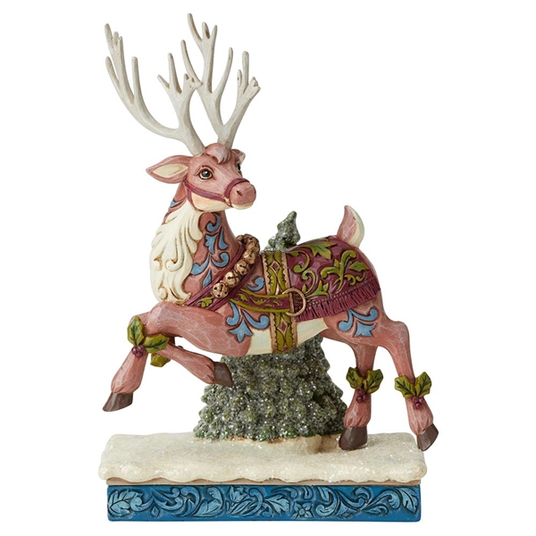 Heartwood Creek Victorian Reindeer Prancing Figurine by Jim Shore, 6004181