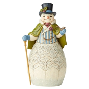 Heartwood Creek Victorian Snowman with Cape and Cane Figurine by Jim Shore, 6004183