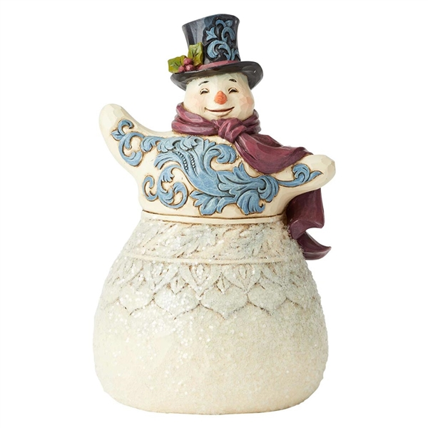 Heartwood Creek Victorian Snowman with Scarf Figurine by Jim Shore, 6004184