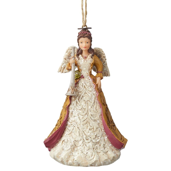 Heartwood Creek Victorian Angel with Horn Ornament by Jim Shore, 6004186
