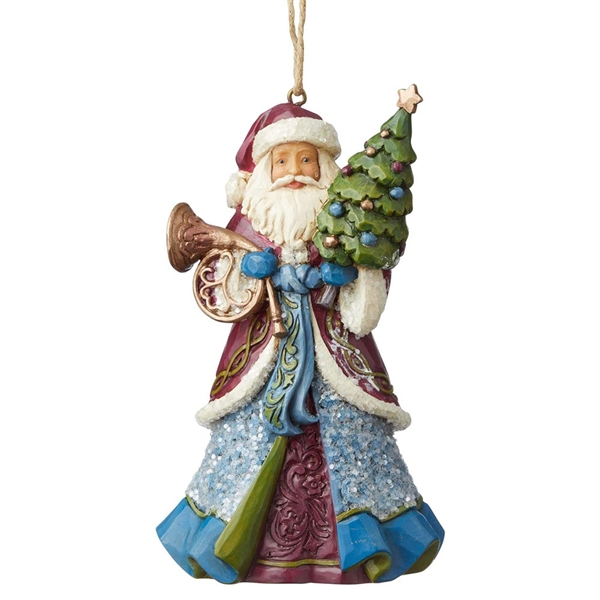 Heartwood Creek Victorian Santa with Horn Ornament by Jim Shore, 6004187