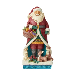 Heartwood Creek Wild Animals with Santa Figurine by Jim Shore | 6004189